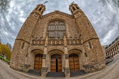 Adelaide university building on cloudy sky. Background royalty free stock images