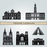 Adelaide V2 Landmarks vector illustration