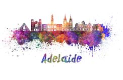 Adelaide V2 linia horyzontu w akwareli Zdjęcia Stock