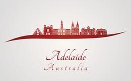 Adelaide V2 linia horyzontu w czerwieni Obraz Stock