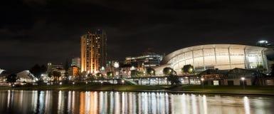 Adelaide vid natt Fotografering för Bildbyråer