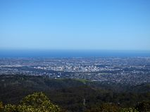 Australia, Adelaide, view of the city from the Adelaide hills. Adelaide, view of the city from the Adelaide hills stock photos