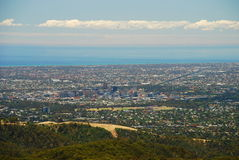 Adelaide view from Mount Lofty. South Australia. Australia Stock Images