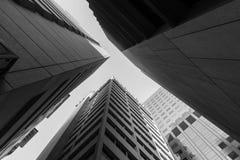 Adelaide-Wolkenkratzer in Schwarzweiss Stockbild