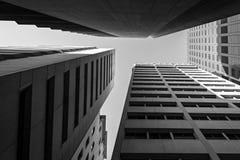 Adelaide-Wolkenkratzer in Schwarzweiss Lizenzfreies Stockfoto