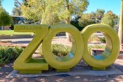 Adelaide Zoo-Haupteingang, Süd-Australien Lizenzfreie Stockbilder