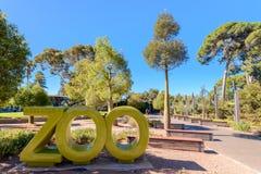 Adelaide Zoo-Haupteingang, Süd-Australien Stockfotografie