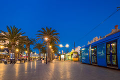 Adelaidemetro-Tram an Moseley-Quadrat, Glenelg Stockfotos