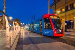 Adelaidemetro-Tram an Moseley-Quadrat, Glenelg Stockbild