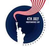 Adelante de julio, cartel del Día de la Independencia de los Estados Unidos de América libre illustration