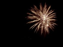 Adelante de los fuegos artificiales de julio Fotografía de archivo