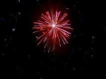 Adelante de los fuegos artificiales de julio Fotos de archivo
