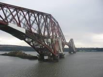 Adelante puente del carril Foto de archivo libre de regalías