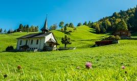 Adelboden-Kirche Lizenzfreies Stockfoto