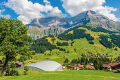 Adelboden sceniska Schweiz Arkivbilder