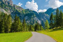Adelboden-Schweizer-Landschaft Lizenzfreie Stockbilder