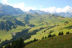 Adelboden-Tal, die Schweiz Lizenzfreies Stockfoto