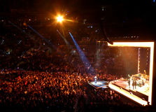 Adele στη συναυλία στο Λος Άντζελες στοκ εικόνες
