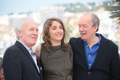 Adele Haenel, Jean-Pierre Dardenne and Luc Dardenne Stock Images