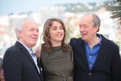 Adele Haenel, Jean-Pierre Dardenne und Luc Dardenne Stockbilder
