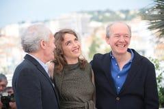 Adele Haenel, Jean-Pierre Dardenne y Luc Dardenne Imágenes de archivo libres de regalías