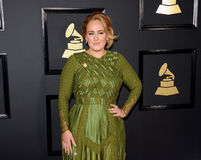 Adele. At the 59th GRAMMY Awards held at the Staples Center in Los Angeles, USA on February 12, 2017 Stock Photo
