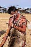 ADELEIDE,澳大利亚- 08 4月18, :表现的未认出的土人演员2008年4月18日的特殊事件的时刻的Adeleide 免版税库存照片