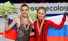 Adelina SOTNIKOVA und Julia LIPNITSKAIA Stockbild