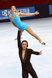 Adeline Canac / Maximin COIA (FRA) free skating Royalty Free Stock Images