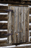 Hornbek Homestead details of Log Cabin Royalty Free Stock Image