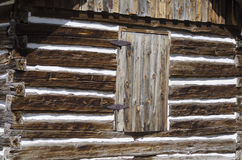 Hornbek Homestead details of Log Cabin Stock Photography