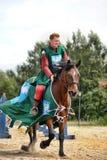 Adeln Sie auf dem Pferd Lizenzfreies Stockbild