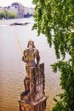 Adeln Sie mit einer Klinge Brunswick, Prag, Charles Bridge Stockfotografie