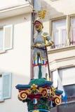 Adeln Sie mit Klinge von Fritschi-Brunnen, Luzerne, die Schweiz Lizenzfreies Stockbild