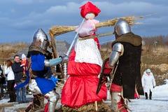 Adeln Sie ` s Turnier am Festival von Shrovetide Stockbilder