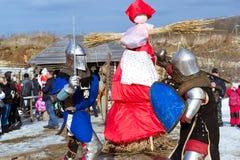 Adeln Sie ` s Turnier am Festival von Shrovetide Stockfoto