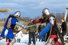 Adeln Sie ` s Turnier am Festival von Shrovetide Stockfotografie