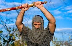 Adeln Sie tragende Rüstung Stockbild