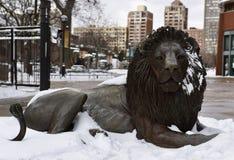 Adelor nella neve Immagini Stock Libere da Diritti