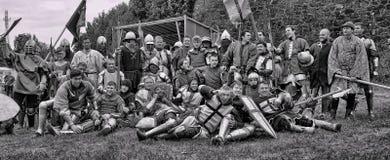 Adelt Rüstung am historischen Festival Stockbilder