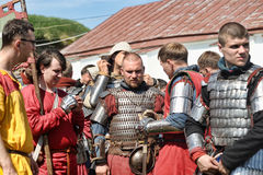 Adelt Rüstung am historischen Festival Stockfotografie