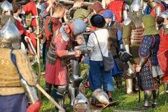 Adelt Rüstung am historischen Festival Lizenzfreie Stockfotos