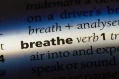 adem stock afbeelding