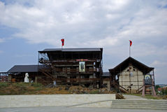 Adem Jasharis Haus, Prekaz, Kosovo Stockfotografie