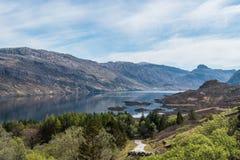 Adembenemend landelijk berglandschap Schotland stock foto's