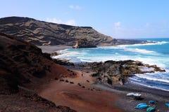 Adembenemend panorama van Gr Golfo met de golf van de Atlantische Oceaan stock foto's