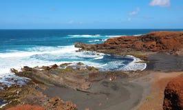 Adembenemend panorama van Gr Golfo met de golf van de Atlantische Oceaan royalty-vrije stock foto's