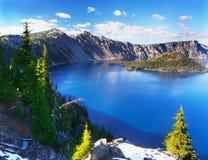 Adembenemend Vulkanisch Meer, Oregon, U S stock fotografie