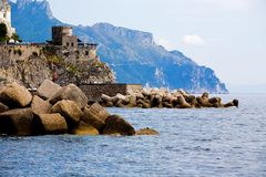 Adembenemende mening van Costiera Amalfitana Royalty-vrije Stock Fotografie
