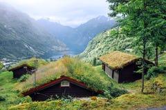Adembenemende mening van Sunnylvsfjorden-fjord Stock Afbeelding